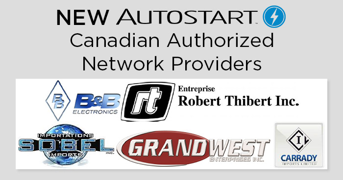 New Autostart Canadian Authorized Network Providers