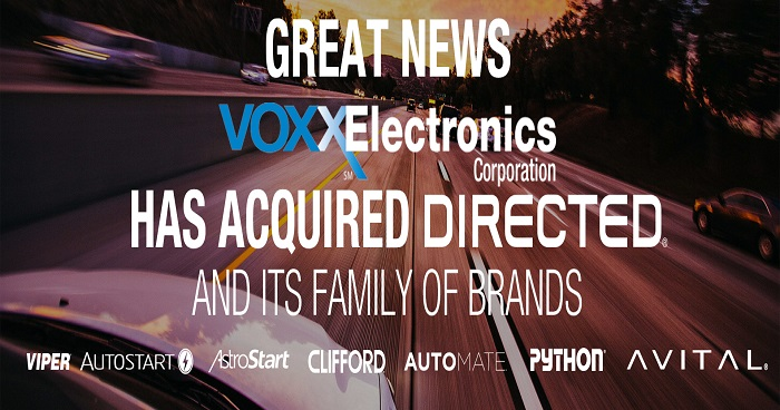 Voxx Electronics has acquired Directed and its family brands